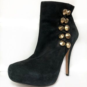 Vince Camuto Women's Black Suede Ankle Boots